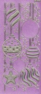 Diamant-Zier-Sticker-Bogen-Baumschmuck-Kugeln-pink-W-1703dp