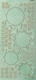 Diamant-Zier-Sticker-Bogen-Stern-Ornamente/Blüten-mint-D-818m