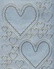 Diamant-Zier-Sticker-Bogen-Herzen-blau-D-830-b