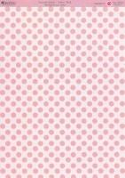 Motivkarton-Kartenpapier-Enamel Glaze-Dotty Pink-DBCRD015