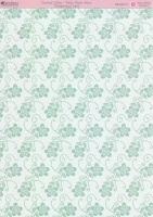 Motivkarton-Kartenpapier-Enamel Glaze-Daisy Chain Aqua-DBCRD017