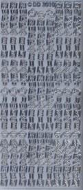 Zier-Sticker-Bogen-Hurra ein Baby/Junge/Mädchen-silber-3010s