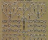 Zier-Sticker-Bogen-3037g-zur Firmung-gold