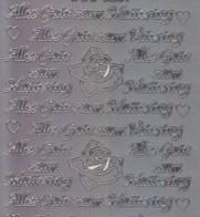Zier-Sticker-Bogen-Alles Gute zum Muttertag / Vatertag-silber-3259s
