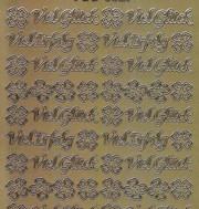 Zier-Sticker-Bogen-Viel Glück-Viel Erfolg-gold-3527g