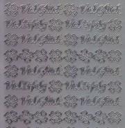 Zier-Sticker-Bogen-Viel Glück-Viel Erfolg-silber-3527s