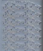 Zier-Sticker-Bogen-doppelte Herzchen mit Schleife-6306s