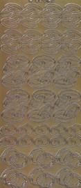Zier-Sticker-Bogen-6426Eg-verschiedene Eheringe-Trauringe-gold