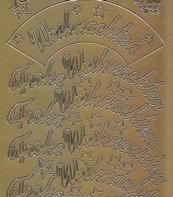 Zier-Sticker-Bogen-Frohe Weihnachten-gebogen-gold-W 3732g