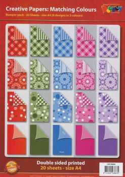 Doodey-Karten-Creative-Papier-20 Bogen-A4-Set A