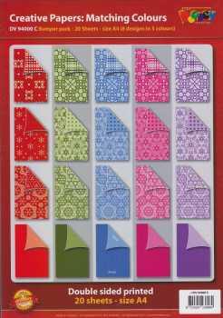 Doodey-Karten-Creative-Papier-20 Bogen-A4-Set C