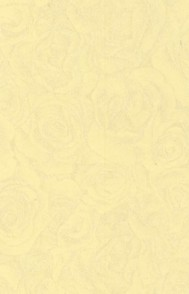 Tolles Duftpapier - großes Rosenmuster-pastell/gelb - A4