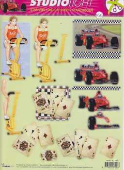 3D Stanzbogen -EASY166-Herrenmotive-Sport-Beruf-Freizeit