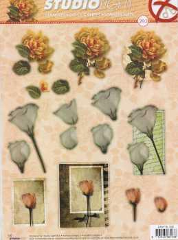 3D Stanzbogen -EASY292-Blumen-Rosen