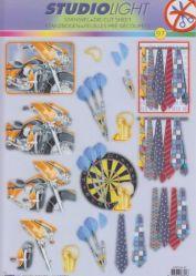 3D Stanzbogen -EASY 97-Herrenmotive-Sport-Beruf-Freizeit