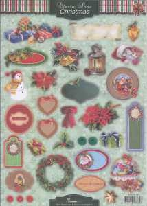 3D Stanzbogen -EASY366 - Classic Line - Christmas-Schilder