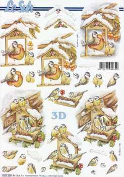 3D Etappen-Bogen-Vogelhaus im Winter-Nouvelle-E 8215509