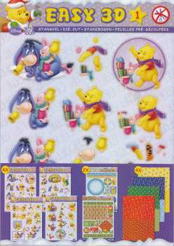 3D Stanzbogen -EASY 01-Set -Winnie Pooh-4 Stanz-4 Hintergrund-2 Spezialbogen