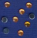 50 Glitzersteine-Schmucksteine-rund-4mm-GR 04-orange