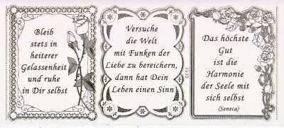 Gravur Sticker Bogen Texte Leichtigkeit Gelassenheit Sprüche Transparent Gold GR  3935trg