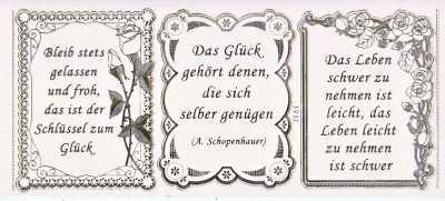 Gravur Sticker Bogen Texte Leichtigkeit Gelassenheit Sprüche Transparent Gold GR  3937trg