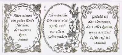 Toll Gravur Sticker Bogen Texte Leichtigkeit Gelassenheit Sprüche Transparent Gold GR  3940trg