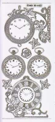Gravur-Sticker-Bogen-Uhren-Wand und Taschenuhren-transparent-gold-GR 6652trg