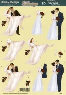 3D Etappen-Bogen-Brautpaare / Hochzeit - HD 73040