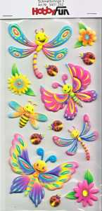 CREApop-Softy-Sticker-Bogen-HobbyFun-HF252 Schmetterlinge 2