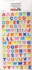 CREApop-Softy-Sticker-Bogen-HobbyFun-HF114-Alphabet-ABC-Großbuchstaben-bunt