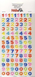 CREApop-Softy-Sticker-Bogen-HobbyFun-HF117-Zahlen -bunt