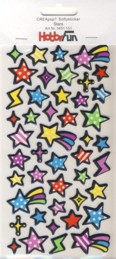 CREApop-Softy-Sticker-Bogen-HobbyFun-HF151-Stars/Sterne