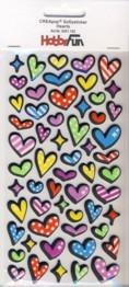 CREApop-Softy-Sticker-Bogen-HobbyFun-HF152-Hearts/Herzen