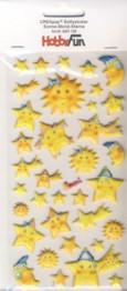 CREApop-Softy-Sticker-Bogen-HobbyFun-HF159-Sonne,Mond und Sterne