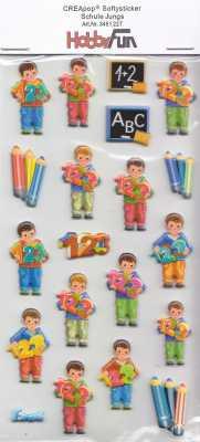 CREApop-Softy-Sticker-Bogen-HobbyFun-HF227-Schule Junge