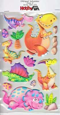 CREApop-Softy-Sticker-Bogen-HobbyFun-HF273- Dinos III