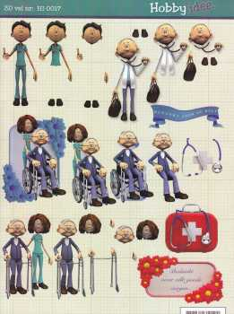3D Bogen-Danke für die Hilfe-Doktor-Pflege-HI 0017