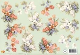 3D Etappen-Bogen-Blumengestecke -gespiegelte Motive-HJ 3902