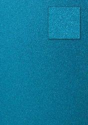 Kars-Glitterkarton-Papier-ca.240g/m²-A4 -K04-türkis
