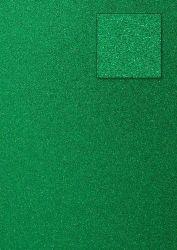 Kars-Glitterkarton-Papier-ca.240g/m²-A4 -K06-dunkelgrün