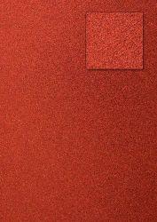 Kars-Glitterkarton-Papier-ca.240g/m²-A4 -K07-rot