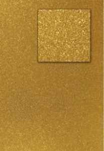 Kars-Glitterkarton-Papier-ca.240g/m²-A4 -K101- dunkelgold