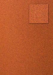 Kars-Glitterkarton-Papier-ca.240g/m²-A4 -K14-orangerot