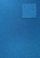 Kars-Glitterkarton-Papier-ca.240g/m²-A4 -K230-pfauenblau