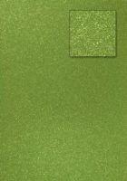 Kars-Glitterkarton-Papier-ca.240g/m²-A4 -K470-olivgrün