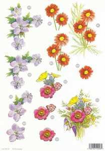 3D Stanzbogen- Line  120 -Blumen
