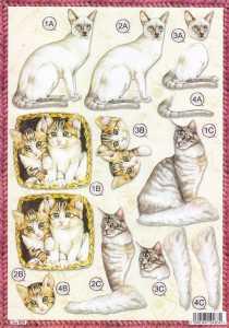 3D Stanzbogen- Line  620 - Katzen - verschiedene Rassen