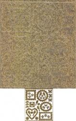 Scrapbook-Sticker-Hochzeit-Rahmen/Tauben/Ringe-antik/gold-M-0420g