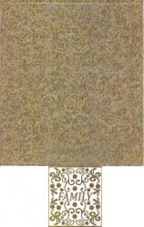 Scrapbook-Sticker-Family-Ornamente-antik/gold-M-2834g