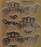 Zier-Sticker-Bogen-Hochzeits-Kutsche/Eheringe-6423g